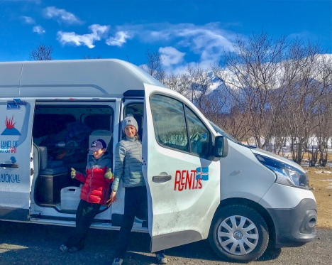 Iceland Campervan Renault 3 Rent.is