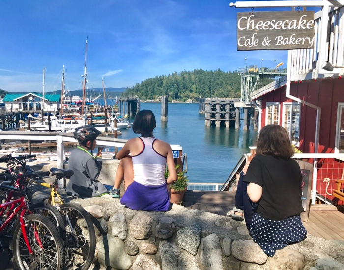 Friday Harbor ice cream and biking