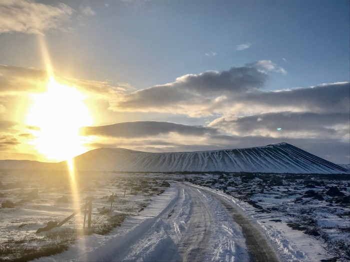 Hverfjall crater near Lake Myvatn Iceland