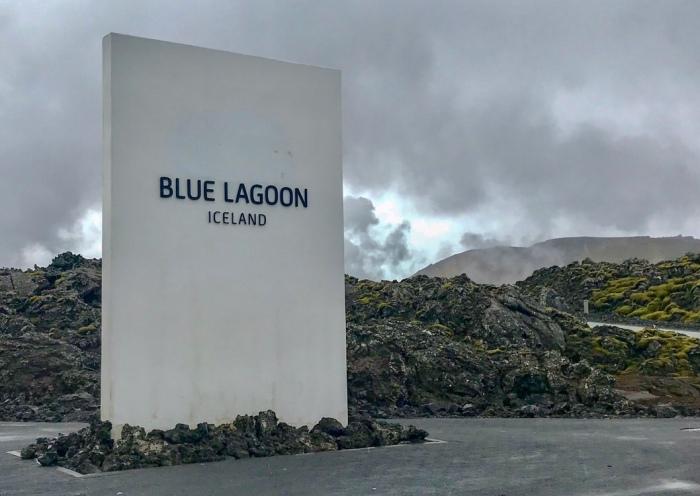 Iceland Blue Lagoon sign