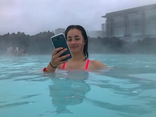 Iceland Blue Lagoon Leina Selfie